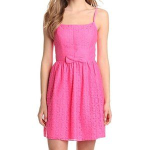 Lilly Pulitizer Pink Antonia Lace Bow Dress